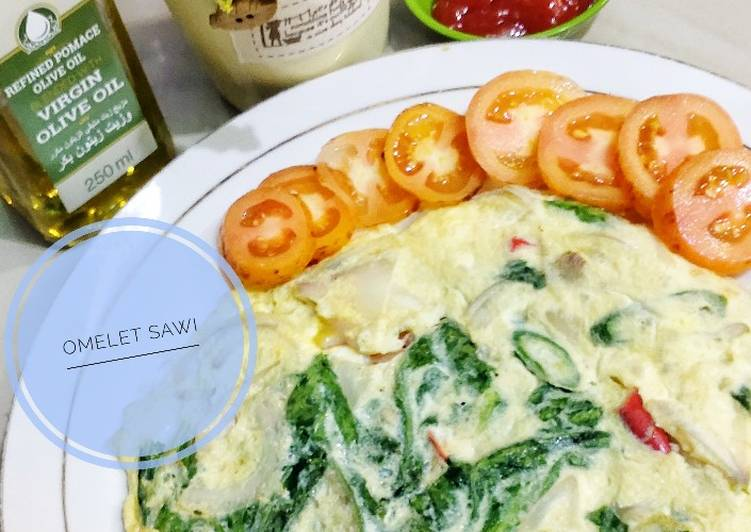 Resep Omelet Sawi