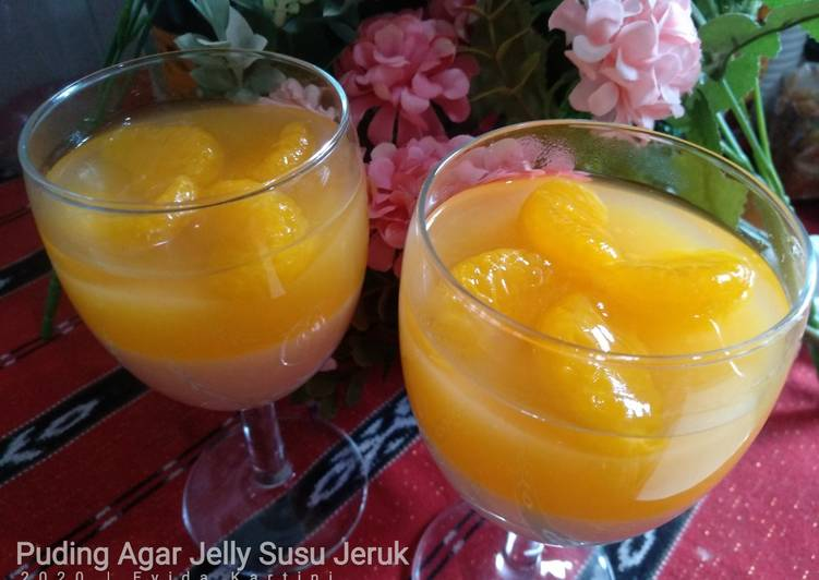 Resep Puding Agar Jelly Susu Jeruk
