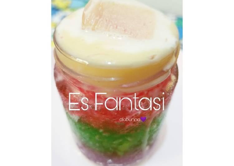 Resep Es Fantasi / Es Jelly Serut / Es Jelly Susu