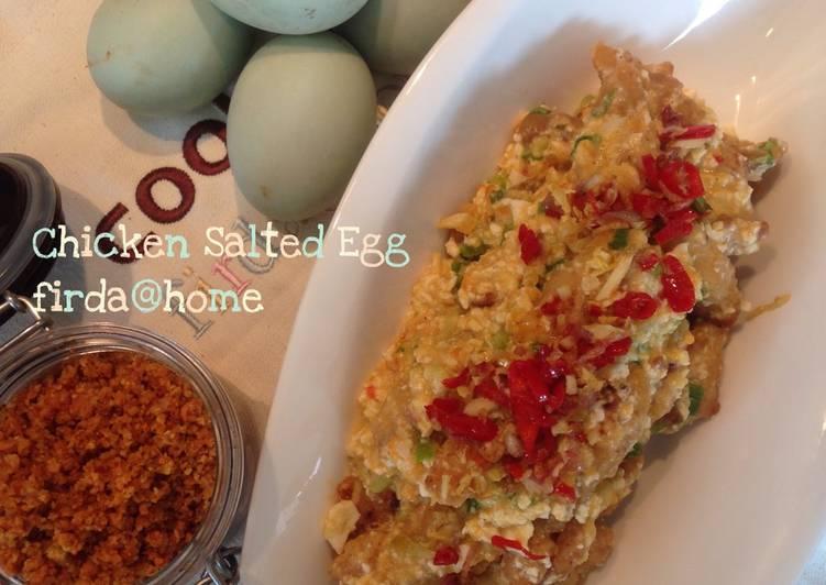 Resep Chicken Salted Egg