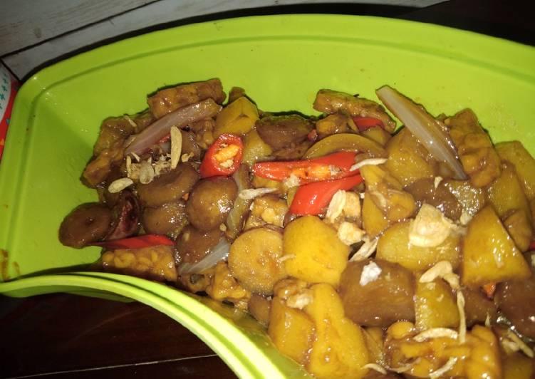Resep Tumis kentang bakso tempe