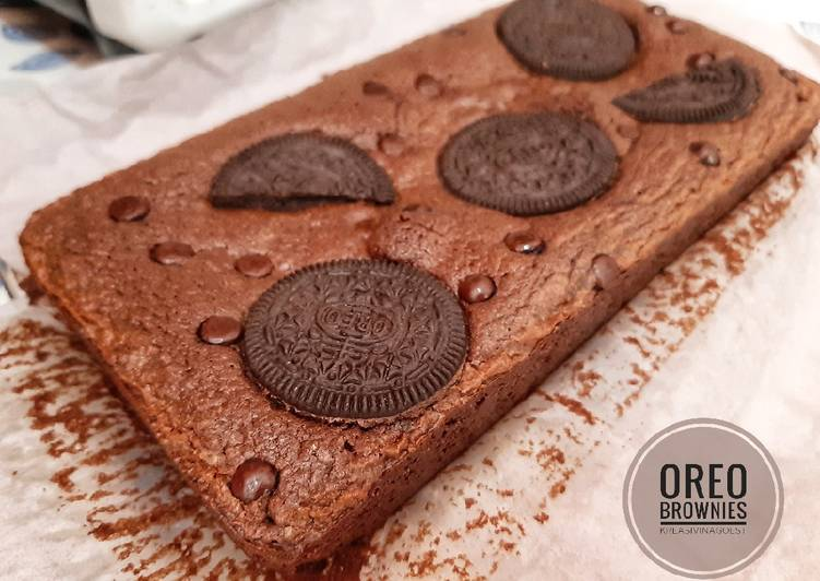 Resep Chewy Oreo Brownies