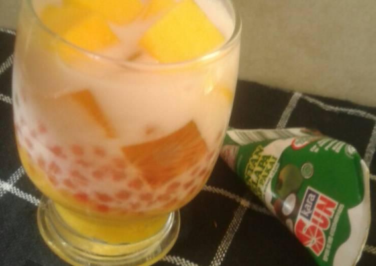 Resep Mango sago (versi santan)