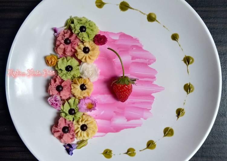 Resep Semprit kanji buah naga daun kelor keju
