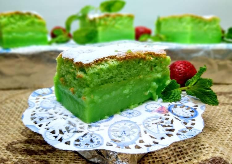 Resep Pandan Custard Cake