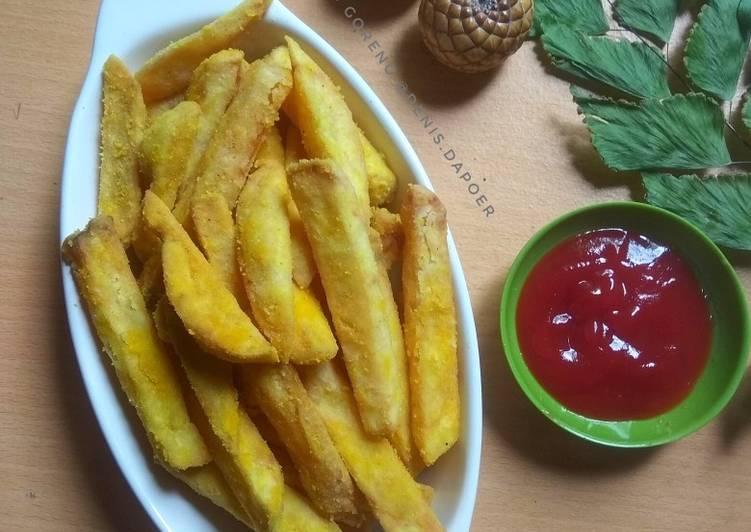 Resep Kentang goreng jagung manis