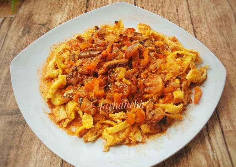 Resep Spaghetti Telur (Topping Sarden Tomato)
