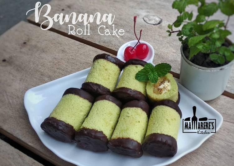 Resep Banana Roll Cake
