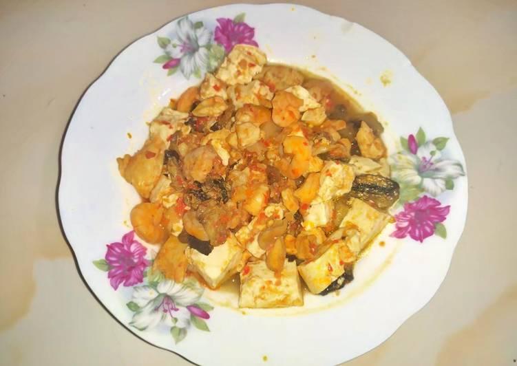 Resep Tahu kentang jamur pedas