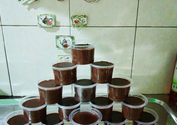 Resep Silky Chocolate Pudding #BikinRamadanBerkesan