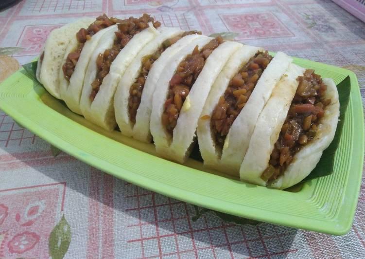 Resep Bakpao Lapis Isi Daging (Hirata Buns Inspired)