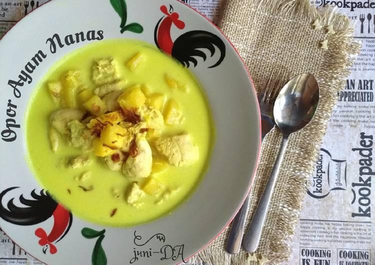 Resep Opor Ayam Nanas*khas Palembang