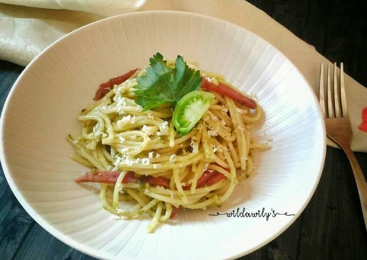 Resep Spaghetti Sambal Hijau (Green Chili Spaghetti) #pr_pasta