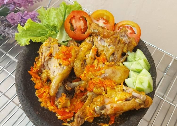 Resep Geprek Ayam (Sambel Bawang)