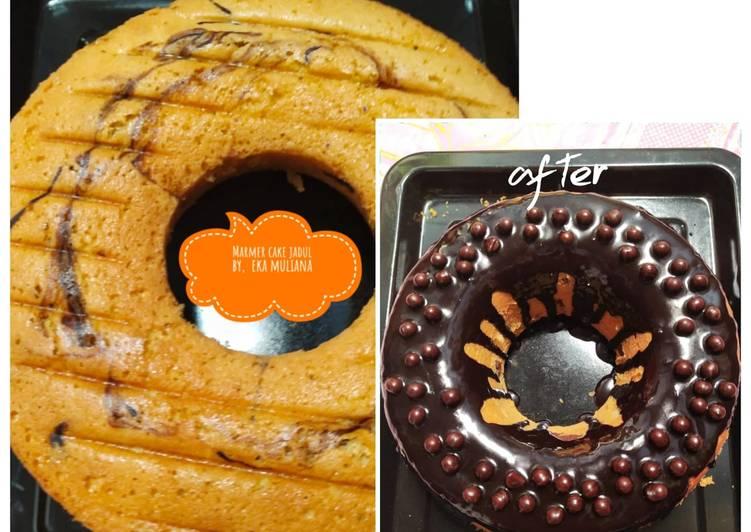 Resep Marmer cake ganache