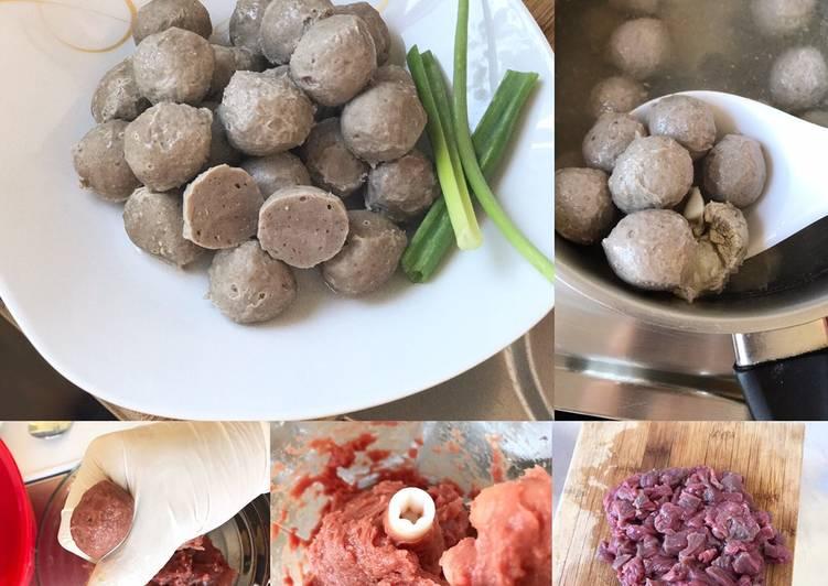Resep Bakso Pure daging sapi ala Thai (Thai beef ball)