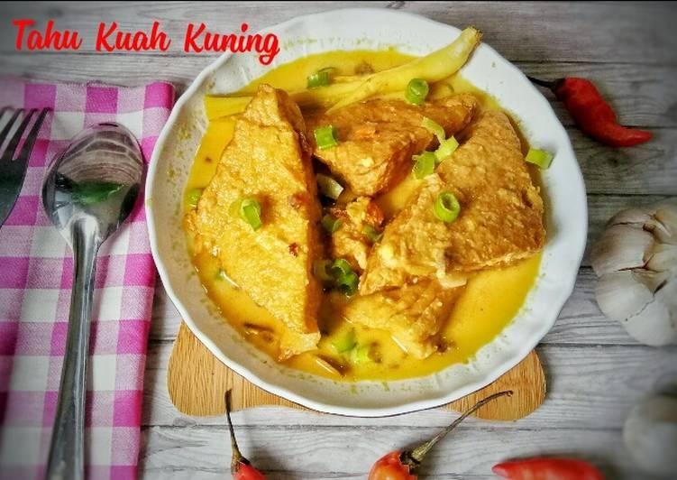 Resep Tahu Kuah Kuning