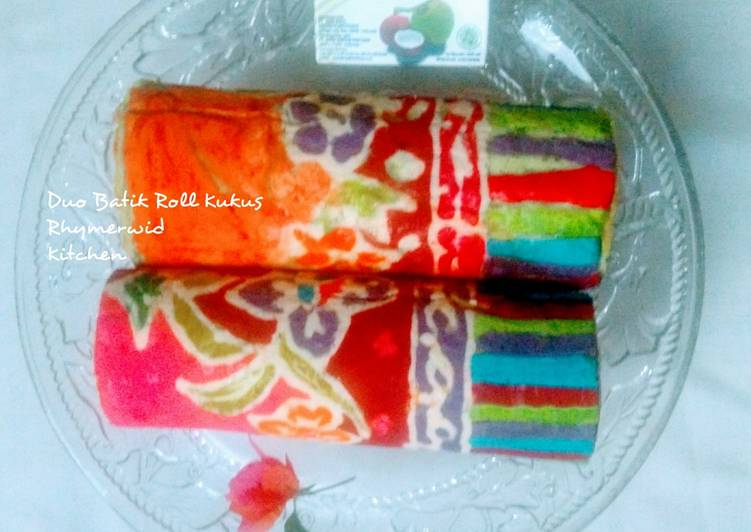 Resep Duo Batik Roll Kukus