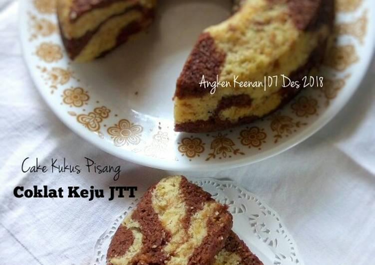 Resep Cake Kukus Pisang Coklat Keju JTT