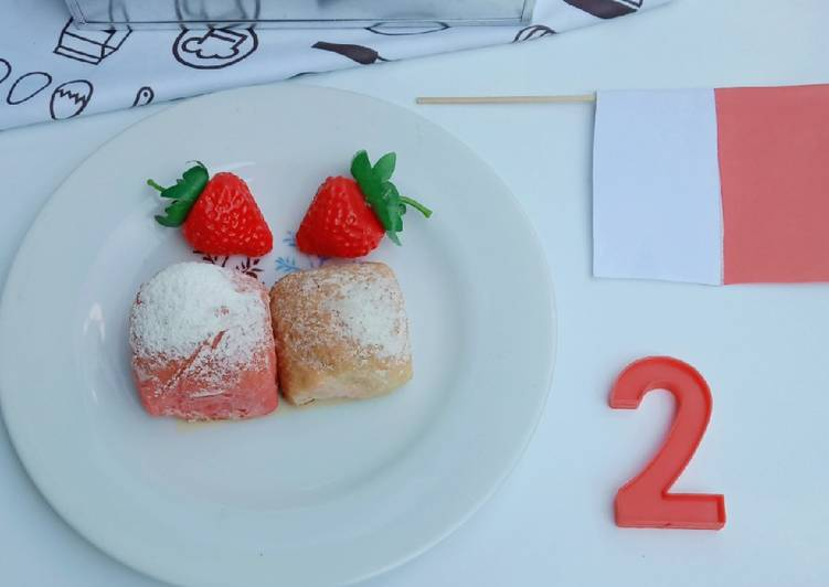 Resep Japanese milk bun merah putih