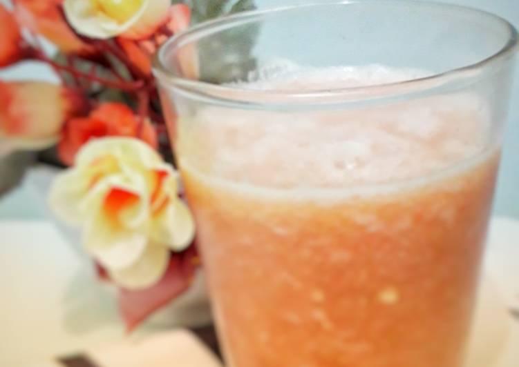Resep Jus diet(apel.tomat.strawbery)