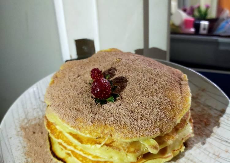 Resep Pancake bahan mudah hasil lembut