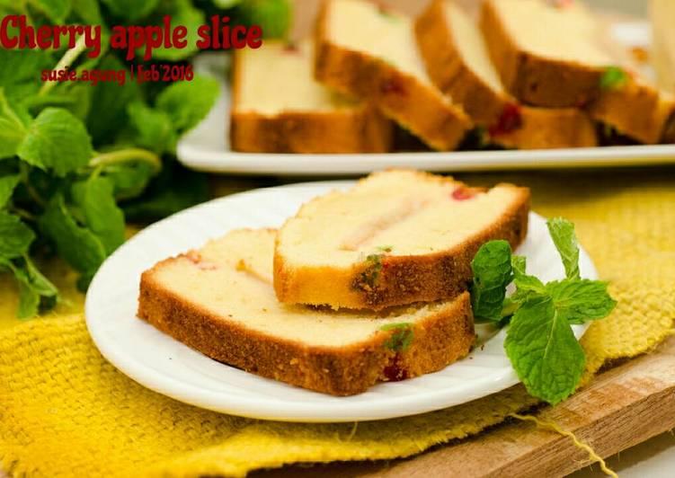 Resep Cherry apple slice