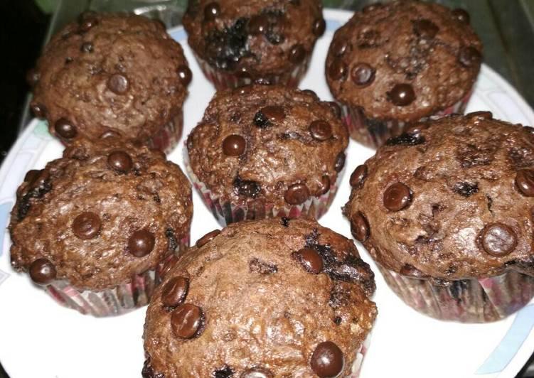 Resep Triple choco muffin, anti gagal, no mixer (hi-dome)