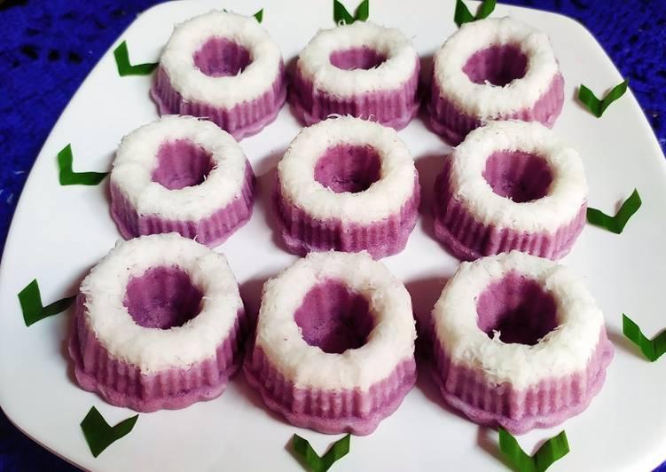Resep Putu ayu ubi ungu