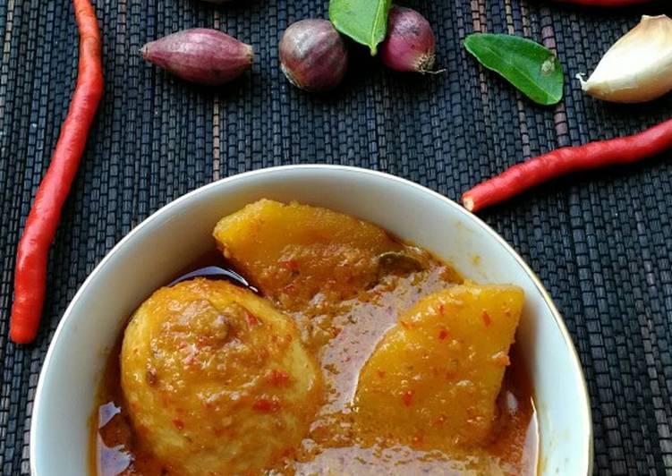 Resep Rendang tahu telur kentang #pr_recookrancakbana