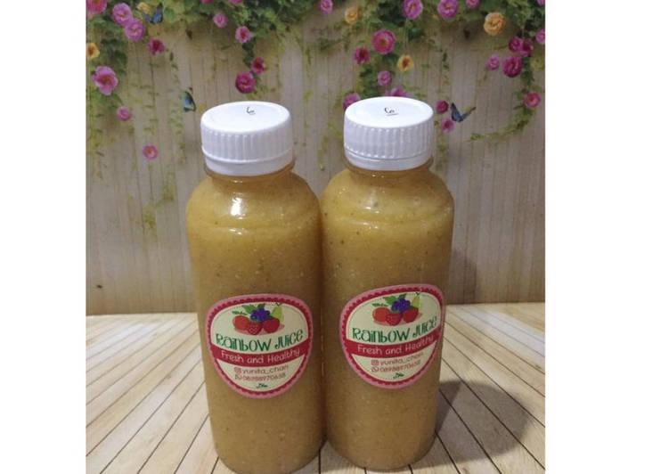 Resep Diet Juice Soursop Pear Mango Chiaseed