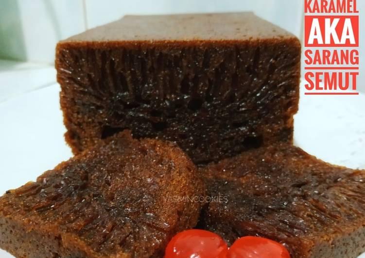 Resep Bolu karamel aka Sarang semut
