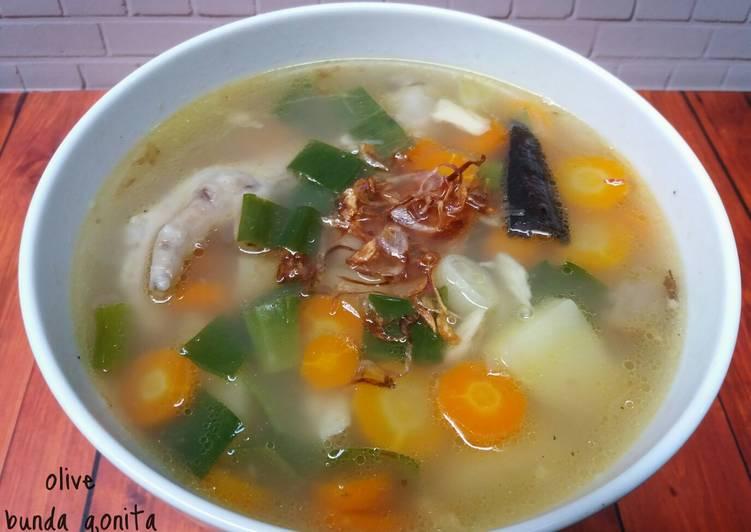 Resep Sup ayam ala pak min (klaten)