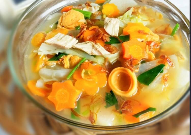 Resep Sop lobak bumbu goreng