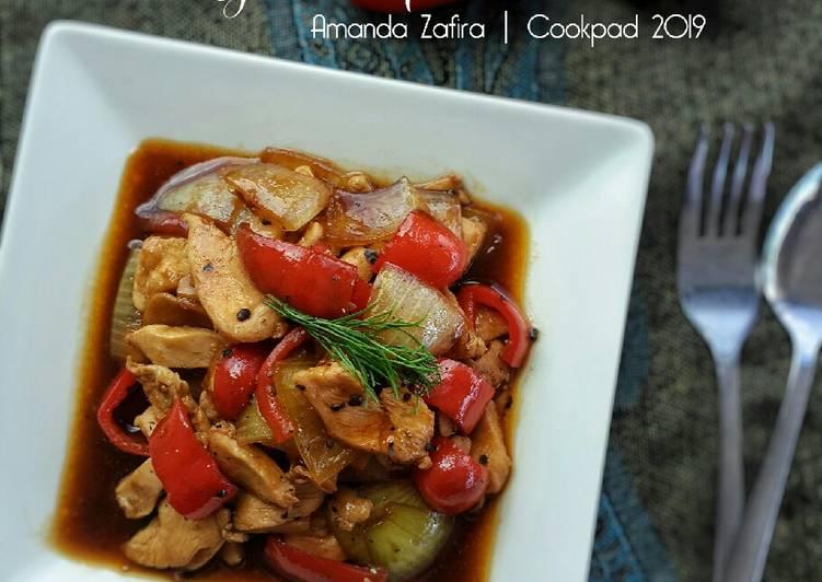 Resep Ayam Paprika Lada hitam
