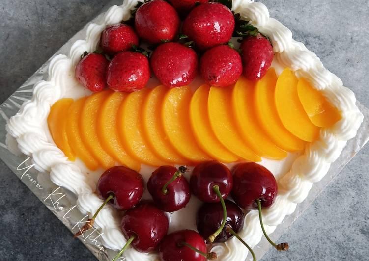 Resep Strawberry and Peach Cake