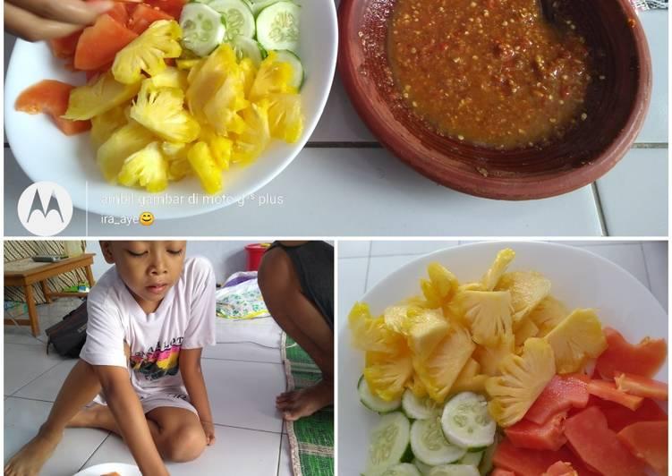 Resep Rujak manis,buah seadanya
