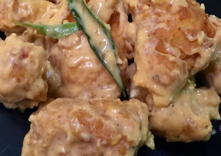 Resep Chicken Crispy Salted Egg (Ayam Bumbu Telur Asin)