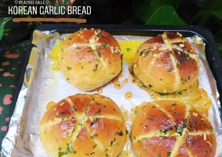 Resep Korean Garlic Bread with homemade Cream Cheese