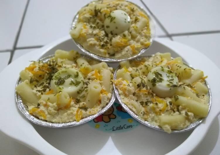 Resep Mpasi bulan Steam Tahu telur macaroni