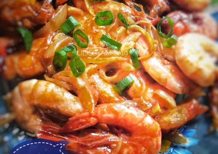 Resep Udang goreng mentega