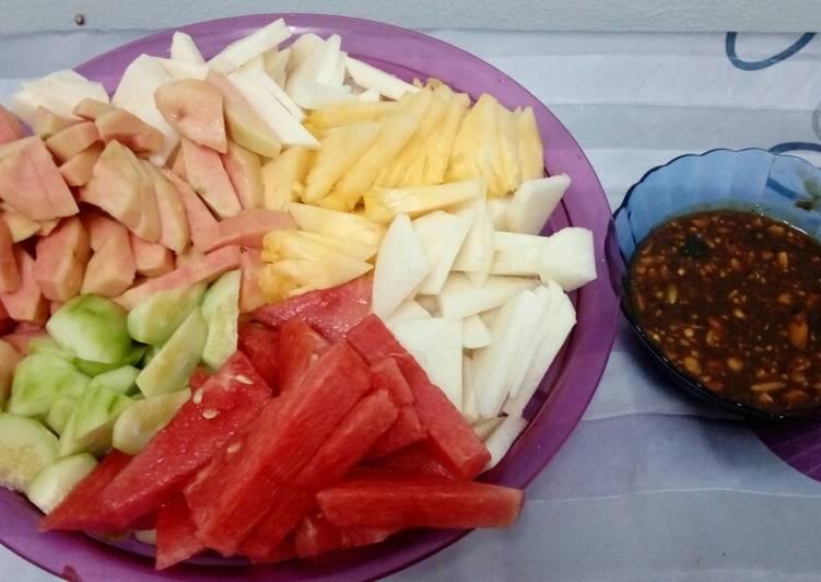 Resep Lotis/rujak buah