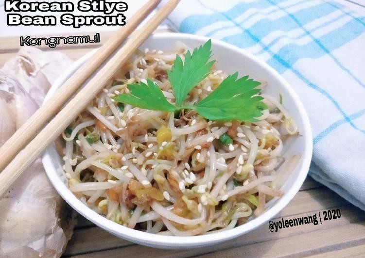 Resep Korean Stlye Bean Sprout (Kongnamul)