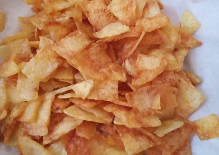Resep Keripik kentang renyah buat pelengkap soto ayam
