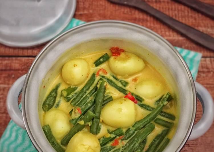 Resep Gulai kacang panjang telur puyuh
