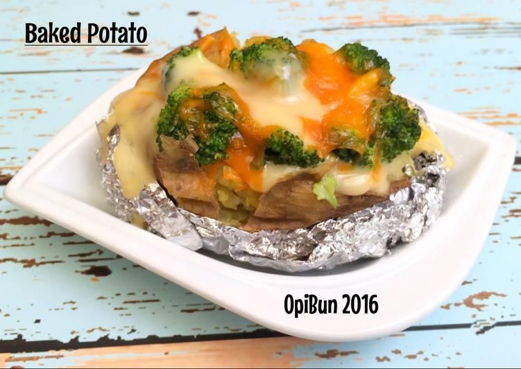Resep Kentang Panggang Brokoli saus keju