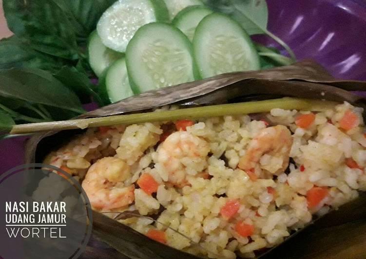 Resep Nasi Bakar Udang Jamur Wortel (#pr_OlahanUdang)