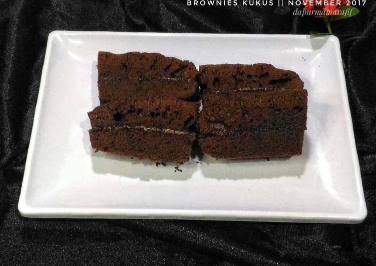 Resep Brownies kukus (resep kue 3 sdm)