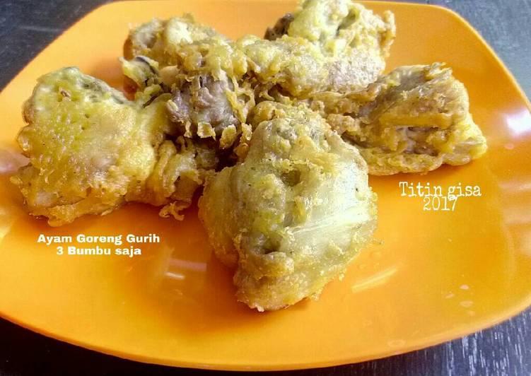 Resep Ayam Goreng Gurih 3 Bumbu Saja