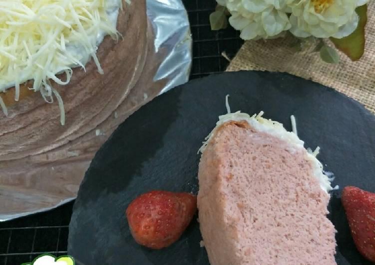 Resep Ogura Cake Strawberry Yoghurt